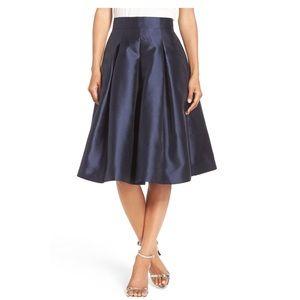 NWT Eliza J Navy Formal Pleated Skirt 8